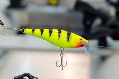 Крупный план рыбной ловли штепсельной вилки Штепсельные вилки популярный тип трудно-уплотненного удя прикорма стоковые изображения rf
