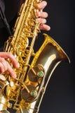 Крупный план саксофона Стоковое Изображение RF