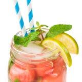 Крупный план свежего питья лета Стоковые Изображения RF
