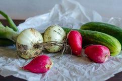 Крупный план свежо сжатых овощей стоковая фотография rf