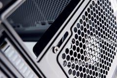Крупный план сетки вентилятора случая компьютера Стоковые Фотографии RF