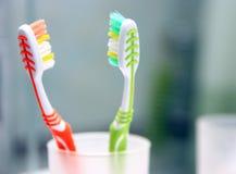 Крупный план снятый зубной щетки. Стоковые Фотографии RF