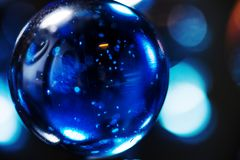 Крупный план снятый стеклянных мраморов Стоковая Фотография