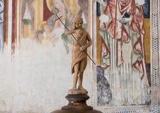 Крупный план статуи St. John Matera в соборе Matera, Италии Стоковое Изображение