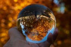 Крупный план стеклянного шарика стоковые изображения