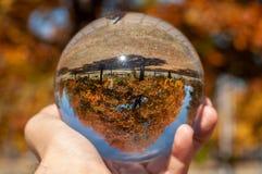 Крупный план стеклянного шарика стоковое изображение