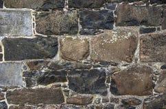 Крупный план стены в замке Эдинбурга, Шотландии стоковое изображение rf