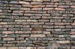 Крупный план стены кирпичей в форте Bahawalpur Пакистане Derawar стоковая фотография