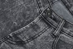 Крупный план текстуры джинсовой ткани, предпосылки демикотона Стоковое Фото
