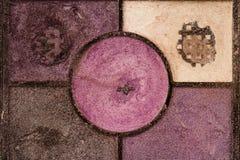Крупный план текстуры косметик теней для век Стоковые Фотографии RF
