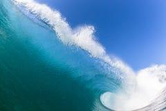 Крупный план фото воды океанской волны стоковые изображения