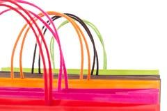 Крупный план хозяйственных сумок стоковые изображения rf