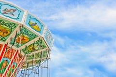 Крупный план цветастого carousel Стоковая Фотография RF