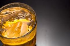 Крупный план чая лимона льда стоковая фотография rf