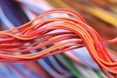 Крупный план электрических кабелей Стоковые Изображения RF