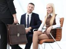Крупный план юриста соответствующего к клиентам Стоковые Фото