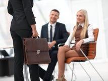 Крупный план юриста соответствующего к клиентам Стоковые Фотографии RF
