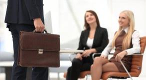 Крупный план юриста соответствующего к клиентам Стоковые Изображения RF