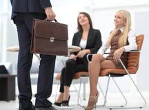 Крупный план юриста соответствующего к клиентам Стоковые Изображения