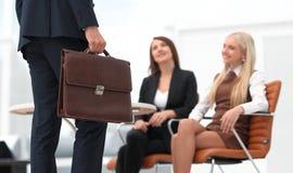 Крупный план юриста соответствующего к клиентам Стоковое Фото