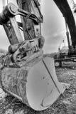 крупный план backhoe Стоковая Фотография