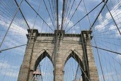 крупный план brookyln моста Стоковые Фотографии RF