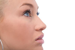 крупный план eyes девушки Стоковое фото RF