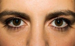 крупный план eyes женщина Стоковое Фото