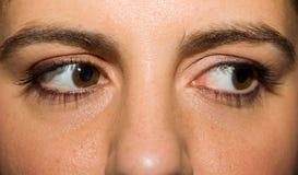 крупный план eyes женщина Стоковое Изображение RF