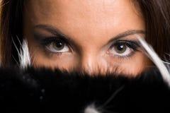 крупный план eyes женщины Стоковые Фотографии RF