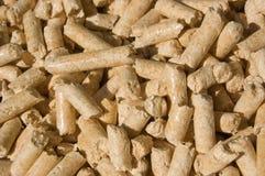 крупный план pellets древесина Стоковое Изображение RF