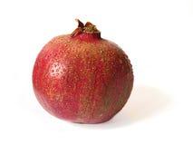 Крупный план Pomegranate в белой предпосылке backgrte Стоковые Изображения