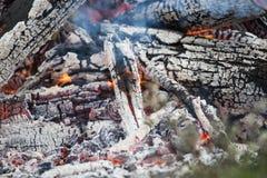 Крупный пожар, от много отрезка и сдаватьой в утиль древесины, сильное пламя стоковые фото
