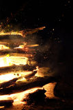 Крупный пожар стоковые фотографии rf