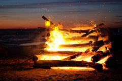 Крупный пожар стоковая фотография