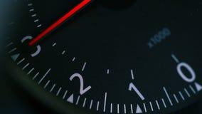 Крупный план автомобиля Тachometer видеоматериал