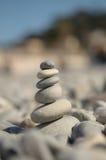 Крупный план башни камешков моря Стоковое Фото