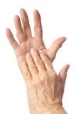Крупный план более старых рук Стоковое Изображение RF