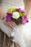 Крупный план букета свадьбы Стоковые Изображения