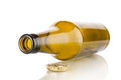 крупный план бутылки пива пустой Стоковые Фотографии RF