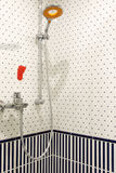 Крупный план блока душевой кабины Стоковое Фото