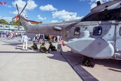 Крупный план вертолета на авиасалоне Стоковая Фотография