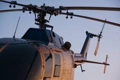 Крупный план вертолета Стоковое Изображение