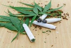 Крупный план высушенной марихуаны Стоковое фото RF