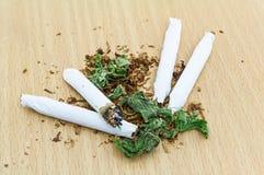 Крупный план высушенной марихуаны Стоковая Фотография