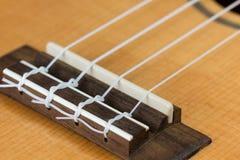 Крупный план гитары гавайской гитары гаваиской Стоковая Фотография