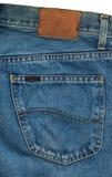 Крупный план голубых джинсов карманный Стоковые Фото