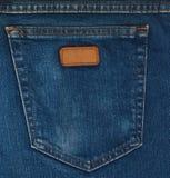 Крупный план голубых джинсов карманный Стоковое Фото