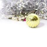 Крупный план голубых шариков рождества Стоковые Фото