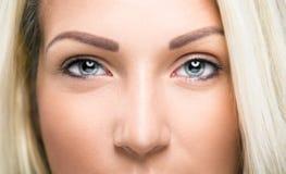 Крупный план глаза женщины Стоковое фото RF